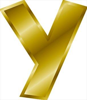 Gold-letter-Y